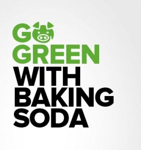 Top 50 Green Uses For Baking Soda.  My favorite:  To clean soap scum and water residue, combine 1 1/2 cups baking soda with about 1/2 cup natural liquid castile soap and 1/2 cup water. Mix very welll and then add 2 tablespoons white vinegar. Use this solution to clean the sink with a damp cloth and then rinse well.