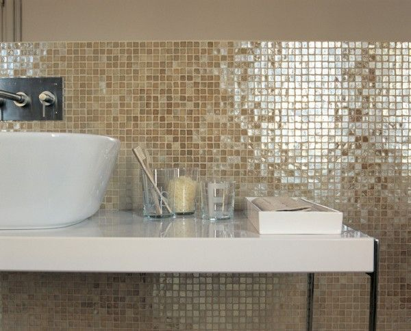 Vetro mosaic melange scuro splashback heritage tiles for 8x4 bathroom designs