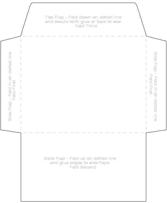free envelope printing template