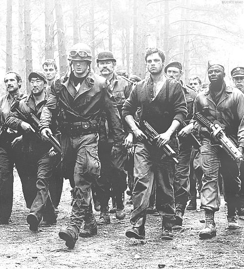 Captain America: The First Avenger || this pic is so WWII!  I love it