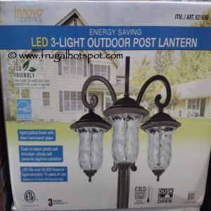Solar Patio Lights Costco Innova Lighting Led 3 Light Outdoor Lamp Post O For Decorating