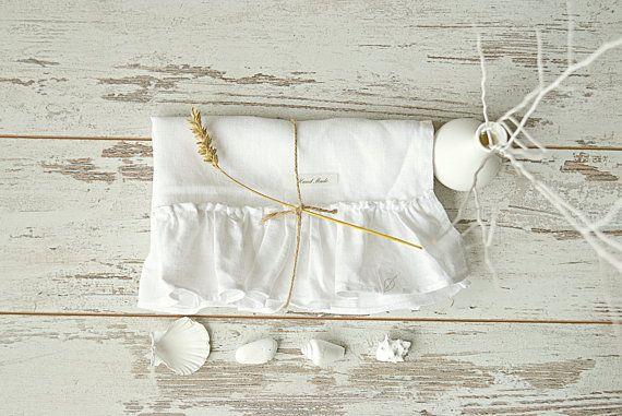 Romantic linen towel Linen hand / face towel от pureWHITEspa