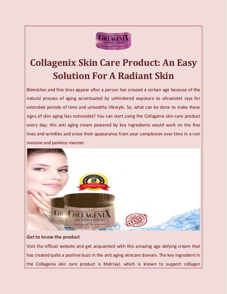 You can start using the #Collagenix #skincare #product every day; this #antiaging #cream powered by key ingredients would work on the fine lines.