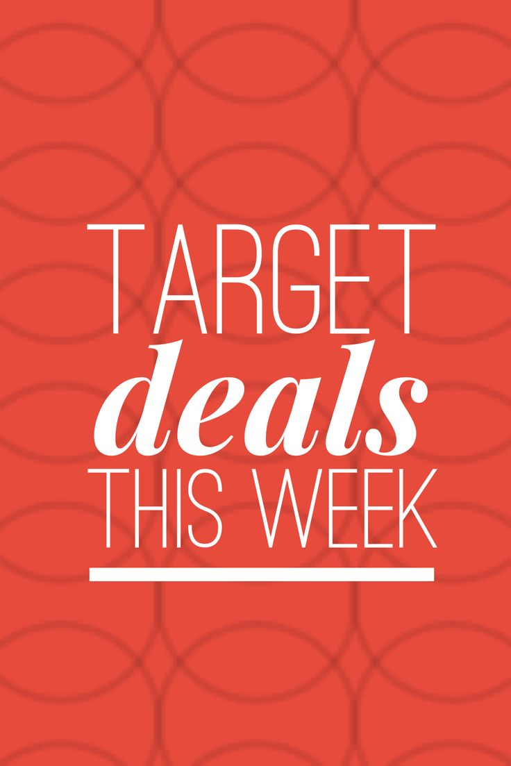 Get the latest on Target Deals this week!