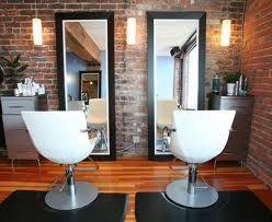 I like the brick wall and full length mirrors