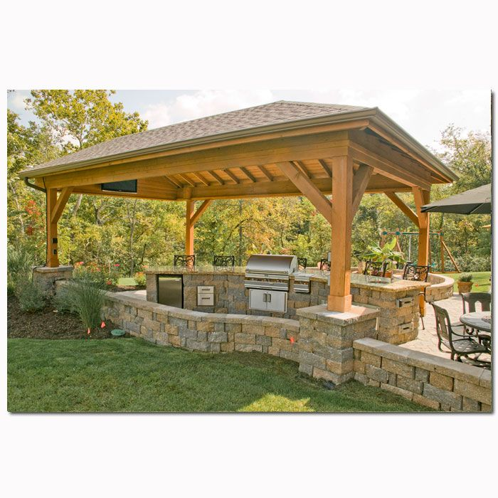 Covered bbq area home ideas pinterest for Outdoor barbeque area designs