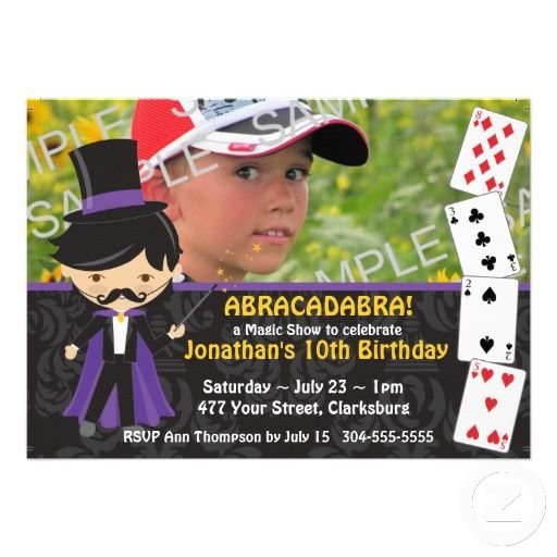 20 best Magic Show Birthday Party Invitations images on Pinterest - best of invitation card birthday party