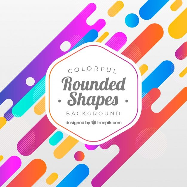 Download Abstract Background With Rounded Shapes For Free Vector