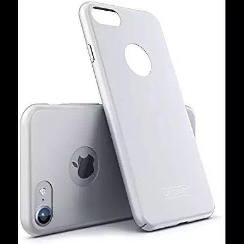 Urcover® Apple iPhone 7 Ultra Slim Hardcase | Kunststoff Silber | Case Handy-Cover Schutz-Hülle Schale Zubehör