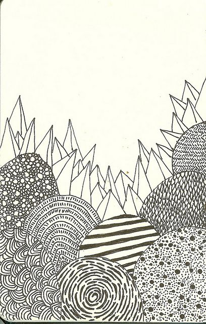 Line Unit. Draw a variety of patterns (like zen-tangling), then use this pattern to carve a block print.