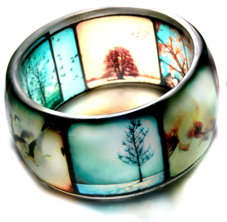 Viewfinder Hand Cast Resin Bracelet