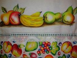 futas tropicais pintura em tecido
