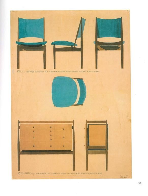 Modern Furniture Sketches 43 best finn juhl images on pinterest | chairs, danishes and
