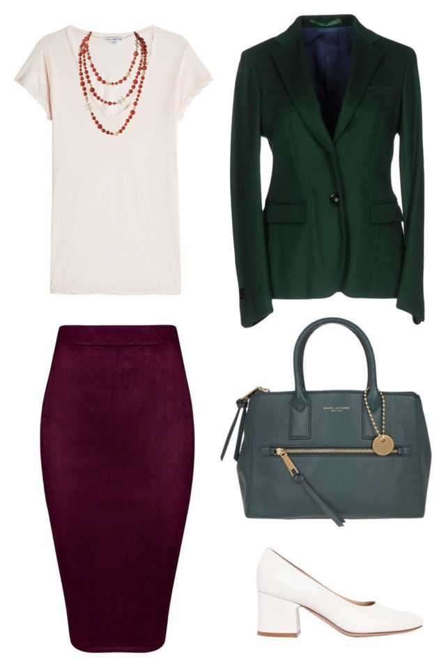 """Marina: office"" by kseniakul ❤ liked on Polyvore featuring Gianvito Rossi, James Perse, Mauro Grifoni, Marc Jacobs, outfit, WhatToWear, outfitidea and drresscode"