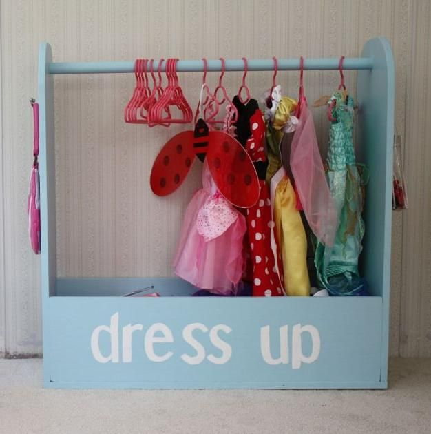 #diy Dress Up Storage - wat leuk ipv de standaard verkleedkist!