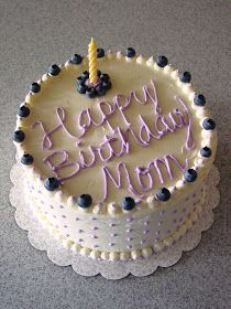 Remember me telling you about my mom's gorgeous birthday cake? Well here it is! I'm not trying to toot my own horn, because I am h...