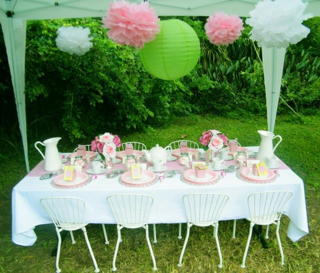 Garden Tea Party Hire Pack   (12 x children) Long list of party and things required for this party included here.