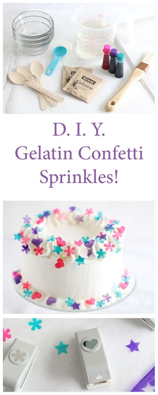 Decoración con gelatina. Que lo disfruten! (DIY Gelatin Confetti Sprinkles. Enjoy!)