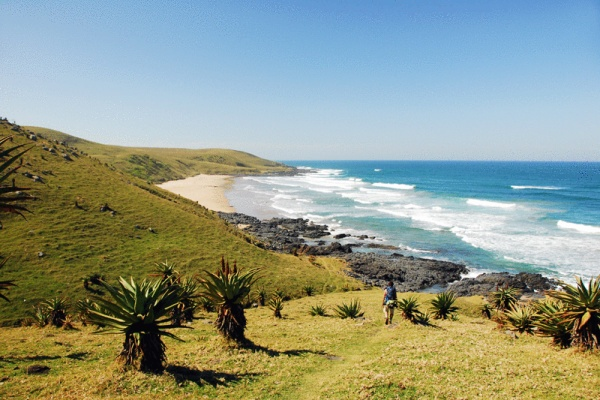 """WILD COAST, South Africa - """"This was taken on a hike from Bulungula to Coffee Bay. The Wild Coast is a gorgeous natural environment, composed of rolling grasslands, tidal estuaries, groves of aloe cow pastures, and the opportunity to meet the Xhosa people, whose hilltop villages you pass through."""" Read more: http://bit.ly/s1aOLr"""