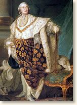 Louis XVI, king of France, . Ascending the throne in 1774, Louis inherited a realm driven nearly bankrupt through the opulence of his predecessors Louis XIV and XV. After donning the crown, things only got worse. The economy spiraled downward (unemployment in Paris in 1788 is estimated at 50%), crops failed, the price of bread and other food soared. The people were not happy. He married Austrian Marie Antoinette targeted as prime source of the problems.Roi De, Louis Xvi, De Sacred, En Habits, History, Xvi En, De France, Habits De, Joseph Siffr