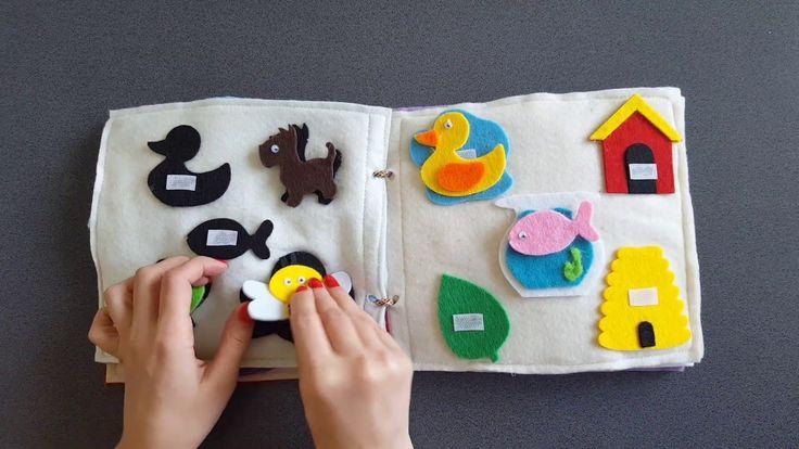 Quiet book Carte senzoriala cu activitati  pentru copii  Model1