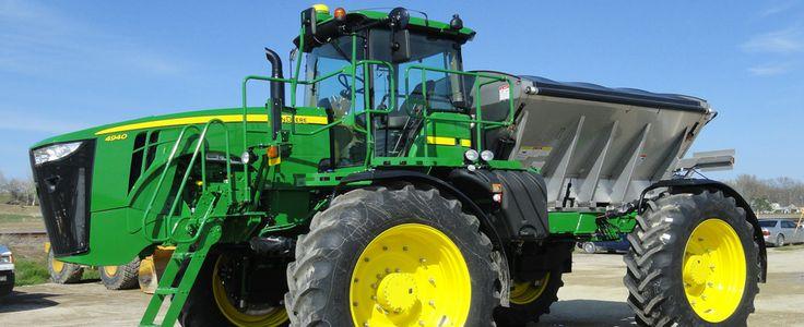 John Deere Spreaders Lawn Tractor : John deere fertilizer spreader with gps