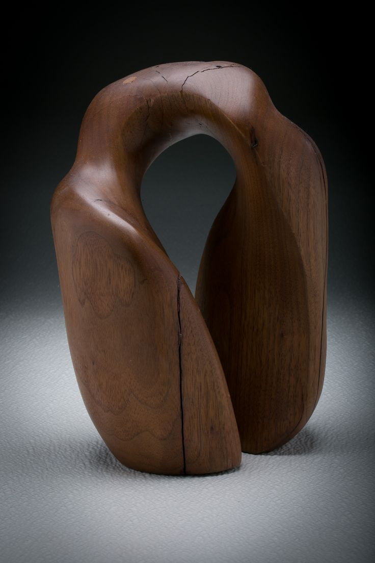 """Lumbering"" view 2 - Black Walnut Carving by Charles Stevens"