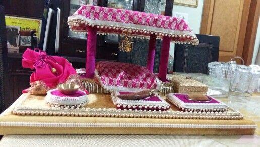 Especially for sikh groom  sagan platters ☺
