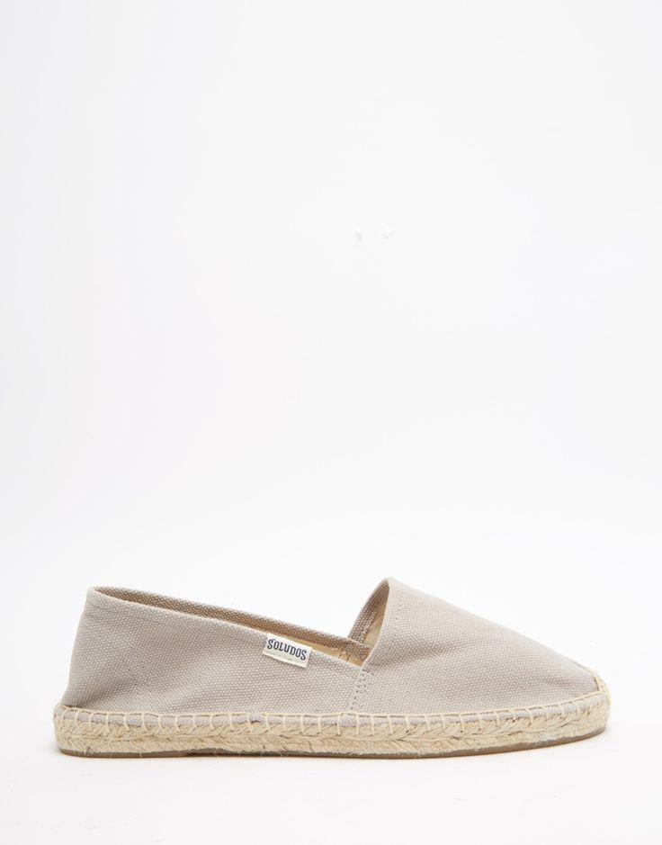 Image 1 ofSoludos Original Canvas Dali Grey Espadrille Flat Sandals