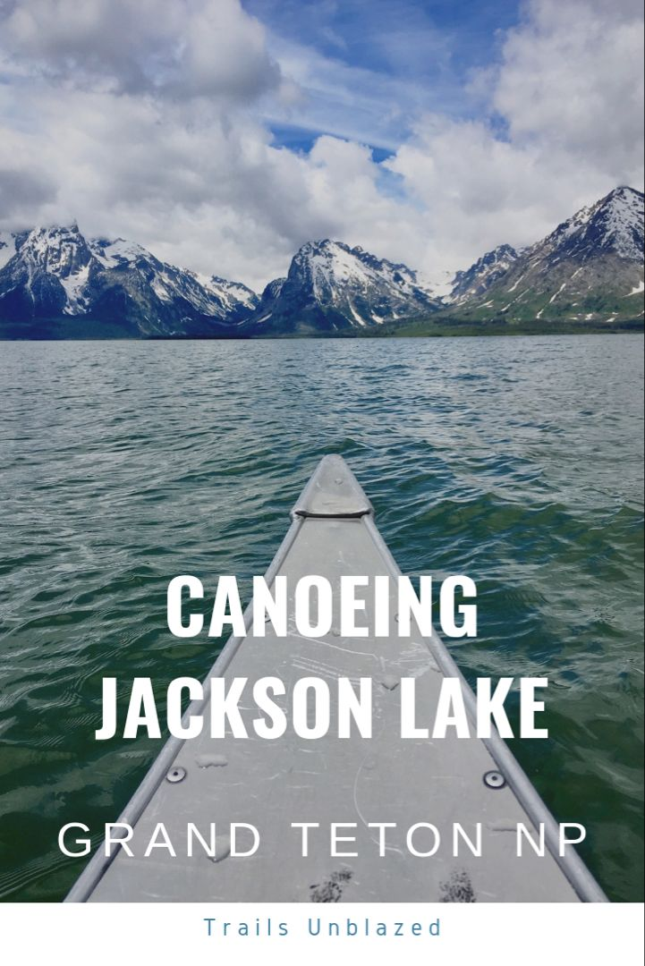 Canoeing Jackson Lake