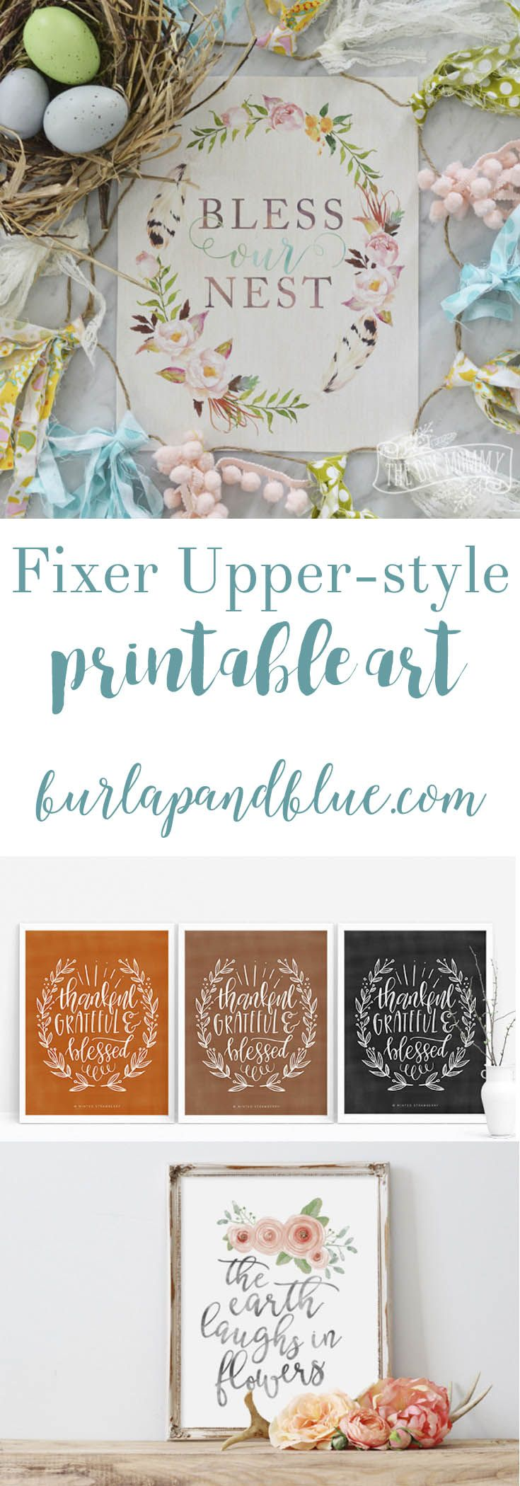Fixer Upper | Free Printables | Rustic Decor | Farmhouse Style If you love the rustic, farmhouse style of Fixer Upper, you won't want to miss this collection of free printable art! Lots of wall decor ideas!