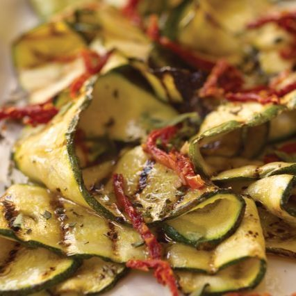 Marinated Grilled Zucchini with Oregano and Dried-Tomato Vinaigrette!