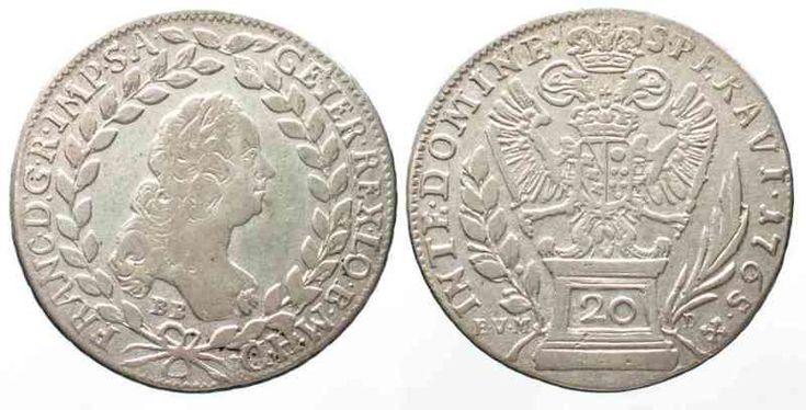 1765 Haus Habsburg RDR 20 Kreuzer 1765 BB-EVM-D (posthum 1767) FRANZ I. Silber # 13259 ss