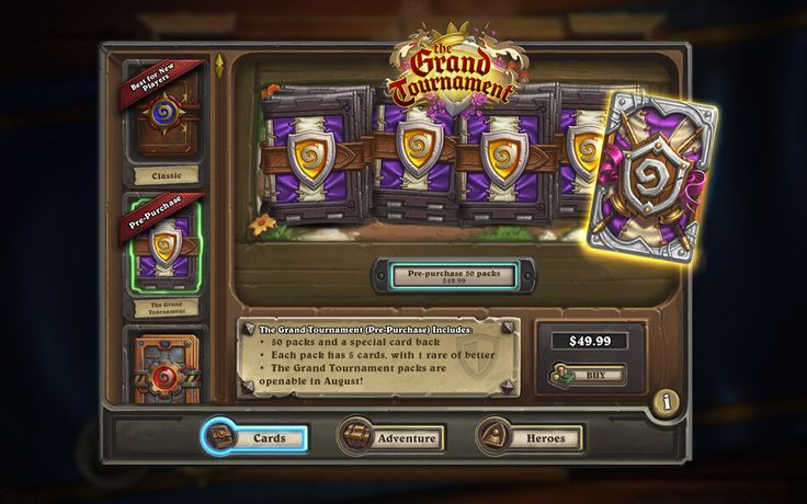 New cards to purchase: http://hearthstonehungary.hu/node/the-grand-tournament-informaciok
