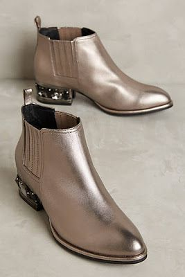 New Fall 2016 Shoe and Boots at Anthropoolgie: Jeffrey Campbell Metcalf Metallic Booties