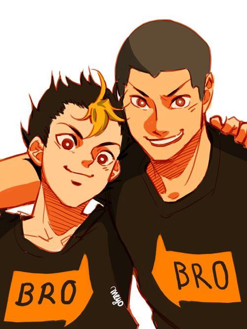 Best Bromance   Nishinoya & Tanaka   Haikyuu!!   Anime