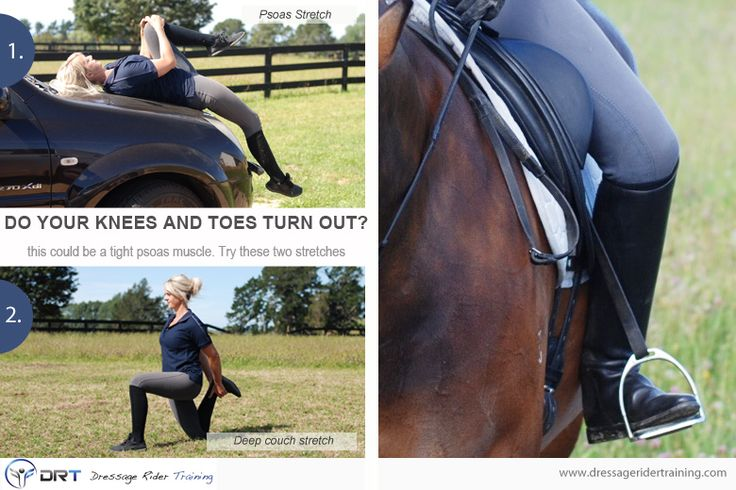 Do your knees turn out when riding? Try this psoas stretch
