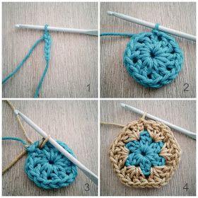 Crochet African Flower - Tutorial -