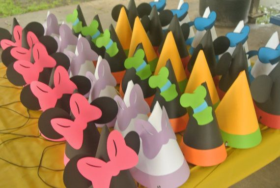 Set of 10 - Mouse Clubhouse Party Hats