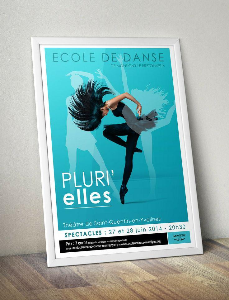 Poster - show dance 2014 - Blue Affiche Spectacle Danse classique