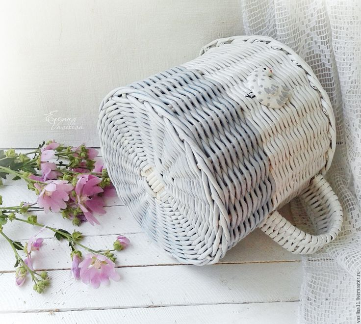 Купить Старенький молочник плетеный - плетеный короб, корзина, старый молочник, в стиле Прованс, винтажный