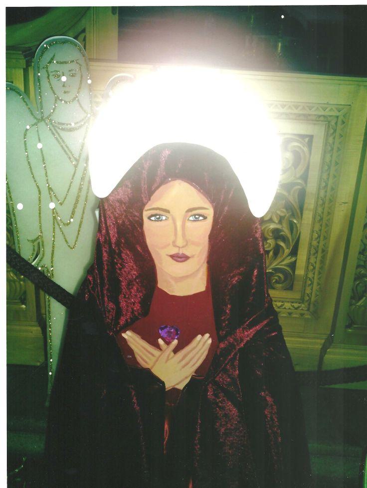 "Zula Sevasti Tsomaridou Singer & Actress & Artist made  this Icon for the Greek Ortodox church in"" Colonge""Germany"
