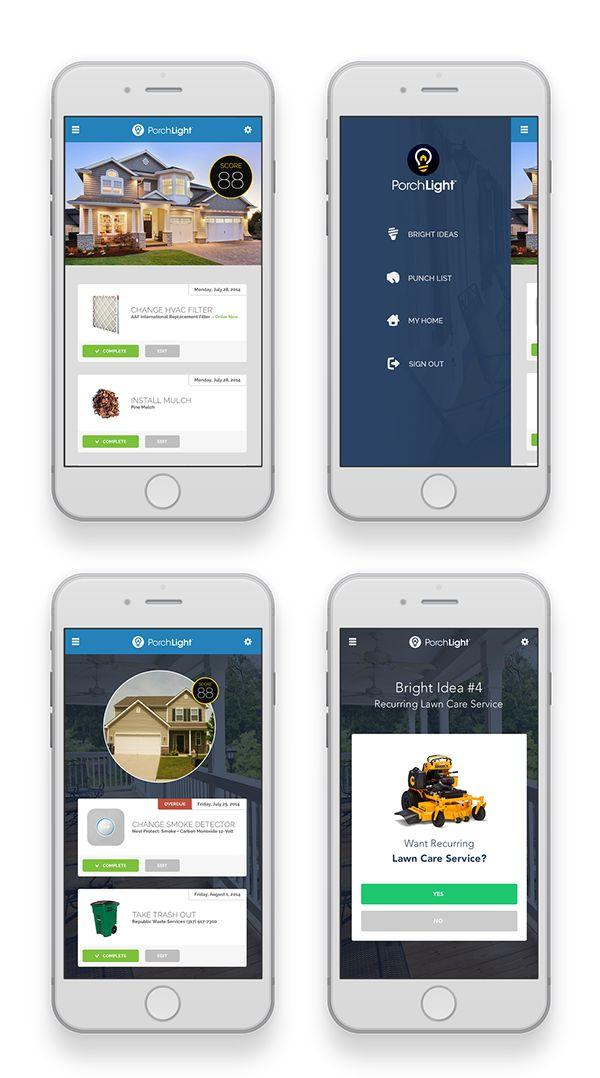 PorchLight / Haven | iOS Apps | App design, UI UX Design, UI