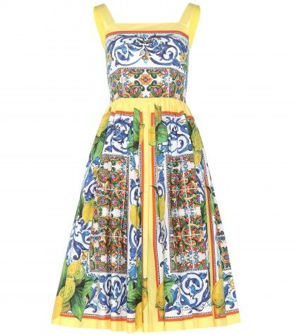 Summer Editor's Style Natalie Matthews - Dolce & Gabbana Dress Street Style - Elle