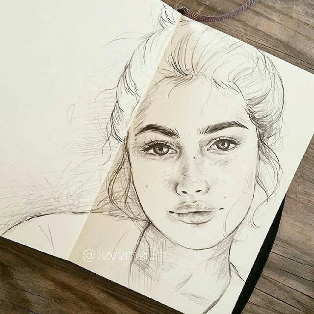 WANT A SHOUTOUT ?   CLICK LINK IN MY PROFILE !!!    Tag  #DRKYSELA   Repost from @komkommermeisje   Little sketch :) I made it when I was in Mallorca. Do you know who the model is? Please let me know because I just found her image on pinterest and can't figure out who she is! __  Have a beautiful weekend __ #sketch #drawing #whoisthemodel #modelunknown #whoisshe #draw #potret #tekenen #schetsen #schetsboek #sketchbook via http://instagram.com/zbynekkysela