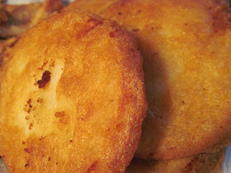 battered potato cakes