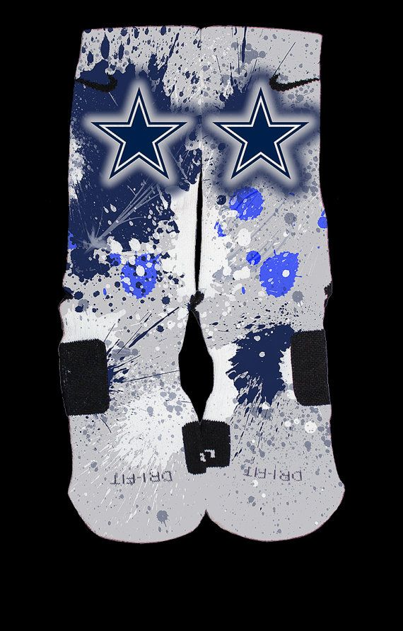 Cowboys Inspired Custom Nike Elite Socks by ChampionshipElites, $34.99