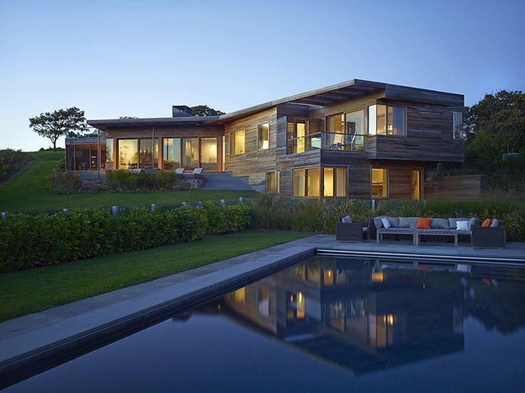 Чарльз поднялся архитекторы завершает современный дом на острове виноградник Марты