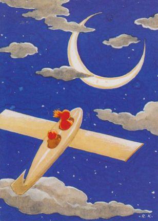 Airplane in the Clouds - Rudolf Koivu