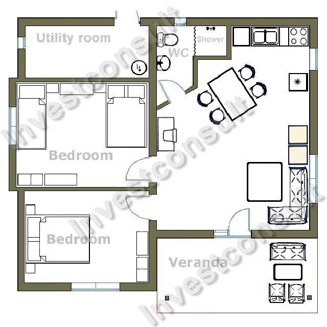 sample home floor plan modern house plans designs blueprint house plan royalty stock photos image